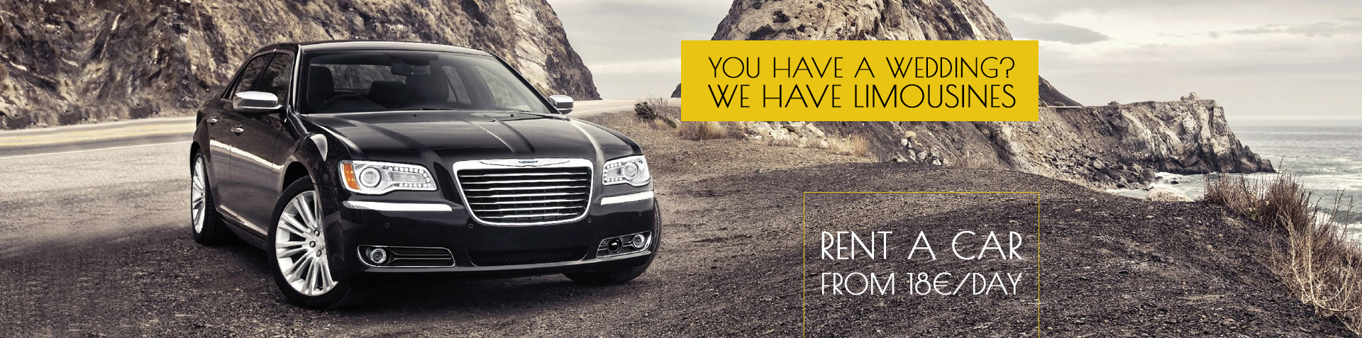 You have a wedding?  We have limousines!  Rent a car from 18 euro / day